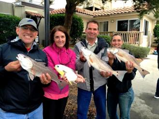 Caught a bunch of redfish and a fat pompano