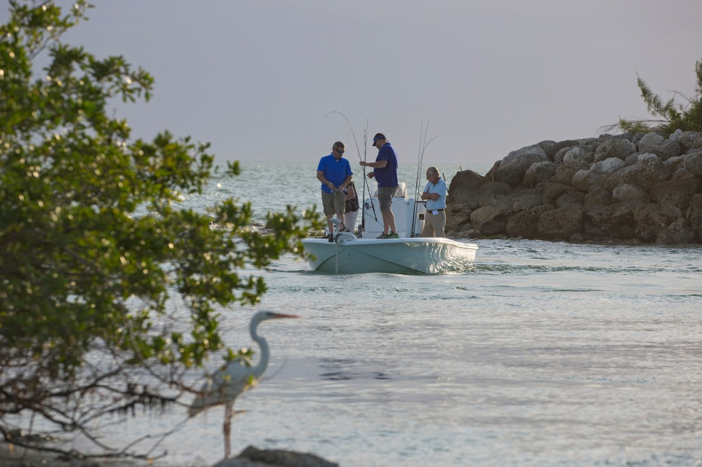 Fishing on a Yellowfin 24 with Lowrance gear in Duck Key FL