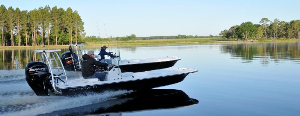 Spyder FX Flats Boats Running Header